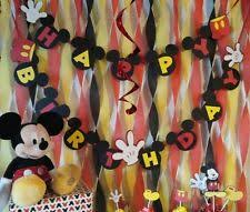 Disney Mickey Mouse Paper Party Decorations