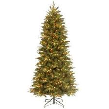 9 Ft Flocked Pencil Christmas Tree by 9 Ft Pre Lit Christmas Trees Artificial Christmas Trees The