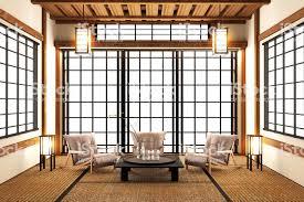 mock up speziell im japanischen stil wohnzimmer 3drendering stockfoto und mehr bilder architektur