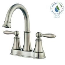 Brushed Nickel Bathroom Faucets Home Depot by Pfister Courant 4 In Centerset 2 Handle Bathroom Faucet In