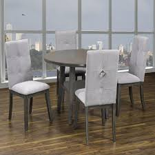 K-Living Sandra 5PCS Round Dining Set (1 Table And 4 Chairs) Cm3556 Round Top Solid Wood With Mirror Ding Table Set Espresso Homy Living Merced Natural Wood Finish 5 Piece East West Fniture Antique Pedestal Plainville Microfiber Seat Chairs Charrell Homey Design Hd8089 5pc Brnan Single Barzini And Black Leatherette Chair Coaster 105061 Circular Room At Hotel Hershey Herbaugesacorg Brera Round Ding Table Nottingham Rustic Solid Paula Deen Home W 4 Splat Back Modern And Cozy Elegant Sets