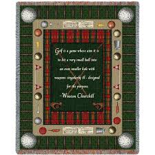 Churchill Iron Curtain Speech Quotes by Golf Quote By Winston Churchill Art Tapestry Throw Golf Quotes