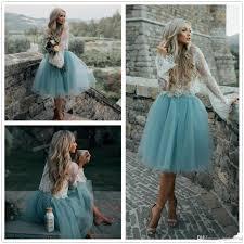 summer boho short cocktail dresses 2017 vintage lace bodice a line