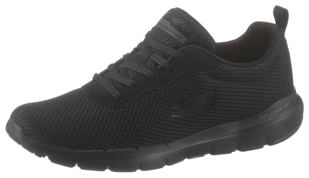Skechers Flex Appeal 3.0 First Insight Womens Black Trainers