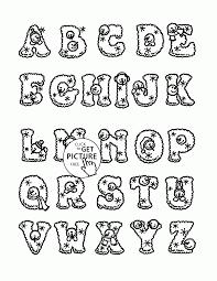 Alphabet Coloring Pages A Z