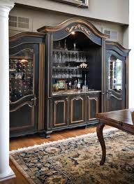 Custom Built In Wine Cabinet Traditional Dining Room