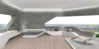 futuristisches wohnzimmer mit kamin stockbild bild