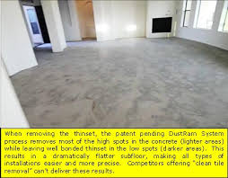 Thinset For Porcelain Tile On Concrete by Dust Free Phoenix Tile Removal Dustram System