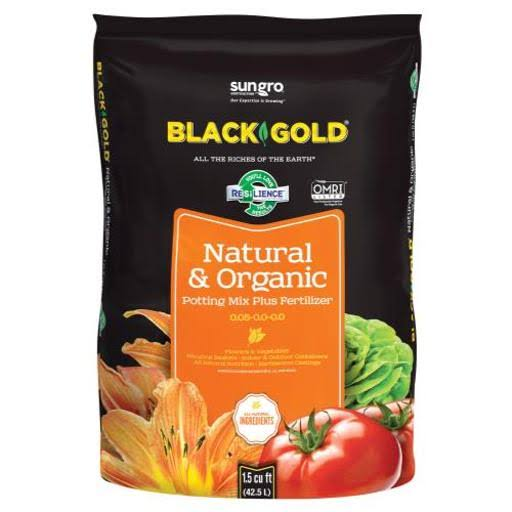 Black Gold Natural & Organic Potting Soil - 56.6l