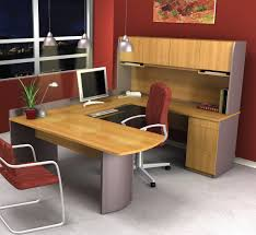 Realspace Broadstreet Contoured U Shaped Desk Cherry by Emejing U Shaped Office Desk Pictures House Design Ideas