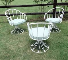 Vintage Woodard Patio Chairs by 14812 Three Original Mid Century Russell Woodard Sculptura Patio