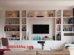tv dans cuisine meuble tv en placo design pour idees de deco de cuisine unique