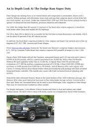 100 Ups Truck Dimensions Calamo An In Depth Look At The Dodge Ram Super Duty