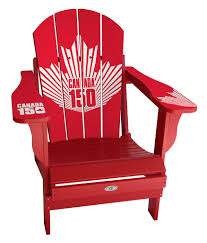 Red Patio Furniture Canada by Canada 150 Anniversary Adirondack Chair Mycustomsportschair Com