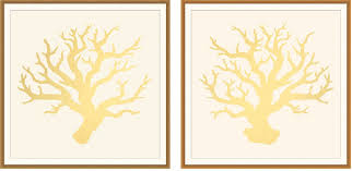 Wall Art Design Ideas bination Gold Leaf Wall Art Multi Panel