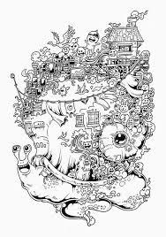 Line Art Doodle Zentangle Adult Coloring Page