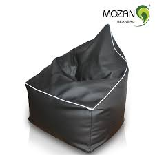 Portable Fabric Wholwsale Cozy Leather Floor Bean Bag Sitting Puffs