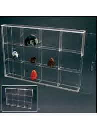 Quick View Rock Display Case Acrylic Glass Curio W 12 Compartments 3
