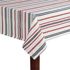 Patriotic Stripes Jacquard Tablecloth