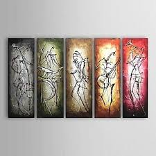 Jazz Musician 5 Piece Wall Art