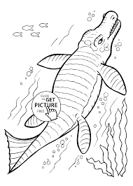 Dinosaur Undersea Coloring Pages For Kids Printable Free