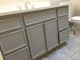 Color For Bathroom Cabinets by Remodelaholic Chalk Paint Bathroom Vanity Makeover