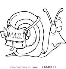 Royalty Free RF Mail Clipart Illustration by toonaday