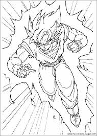 Goku In A Rush Coloring Page