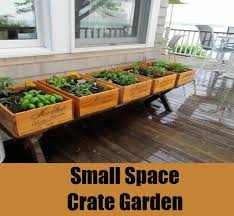 With Help Of Wooden Crates You Can Build A Small Garden On Your Porch Assemble The Raised Platform Or Bench Fill Potting Soil