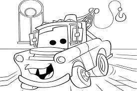 Free Coloring Page Disney Cars Mater Pages On Book