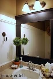 Diy Industrial Bathroom Mirror by How To Frame A Bathroom Mirror The O U0027jays Of And Bathroom