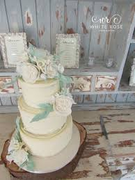 Three Tier Rustic Wedding Cake By White Rose Design Cakes In West Yorkshire