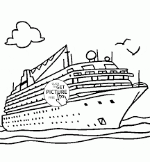 Real Cruise Ship Coloring Page For Kids Transportation Pages Printables Free
