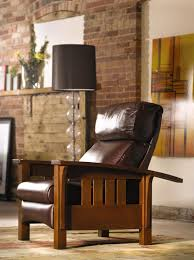 Stickley Furniture Leather Colors by Stickley Bustle Back Bow Arm Morris Recliner Stickley Mission