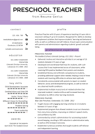 Preschool Teacher Resume Samples & Writing Guide | Resume Genius Resume Genius Theresumegenius Twitter Badass Resume By Rjace My So Its Immediately Visually 25 Inspirational Curriculum Vitae Ctribution To Society Letter Retail Sales Associate Sample Writing Tips Coaching Ged On Prutselhuisnl Close The Deal And Get A Job Offer With These Writing Tips App Examples Template Internship Samples Guide