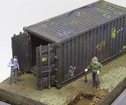 100 Shipping Container Model HO Scale Surprise Reveal Diorama 8 Steps