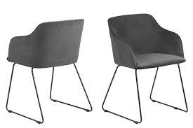 2er set esszimmerstuhl caitlyn polsterstuhl esszimmer stuhl stuhlset anthrazit