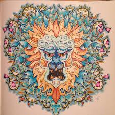 Johanna Basford Secret Garden Coloring Book Adult Green Man Color Art Colored Pencils Zentangle Projects Clever