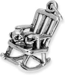 Amazon.com: TheCharmWorks Sterling Silver Rocking Chair With ...