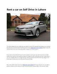 100 Rental Truck Discounts Rent A Car On Self Drive In Lahore By ShaniTravels Issuu