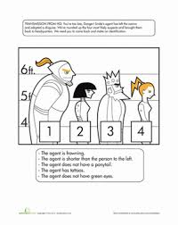 Halloween Brain Teasers Worksheets by Catch The Crook Logic Puzzles Worksheets And Brain Teasers