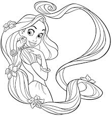 Long Hair Rapunzel Coloring Pages