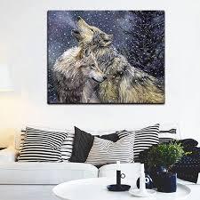 malerei durch zahlen kunst farbe durch zahl gemalt kluge wolf gruppe wohnzimmer studie flur hintergrund wand dekorative malerei
