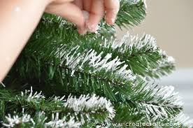 Christmas Tree Flocking Spray Can by How To Add Snow To An Artificial Tree U Create