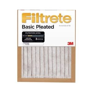 Filtrete Basic Pleated Air Filter FBA12DC-6, 24 in x 24 in x 1 in (60,9 cm x 60,9 cm x 2,5 cm)