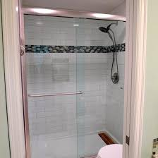 bathroom design exciting shower with 4x12 subway tile and glass