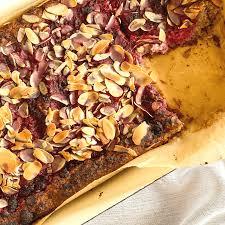 low carb zuckerfreier veganer himbeer mandel kuchen