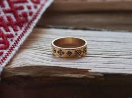 latvian pagan ring latvian jewelry pagan jewelry gold band ring for bronze ring ethnic ring unique gift for