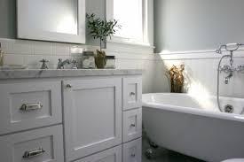 Bathroom Vanity Backsplash Ideas by Kitchen Subway Tile Backsplash Ideas With White Cabinets Cottage