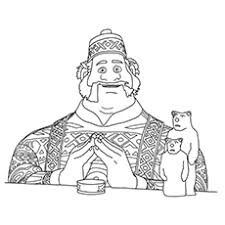 Character Kristoff Of Frozen Oaken Coloring Pages